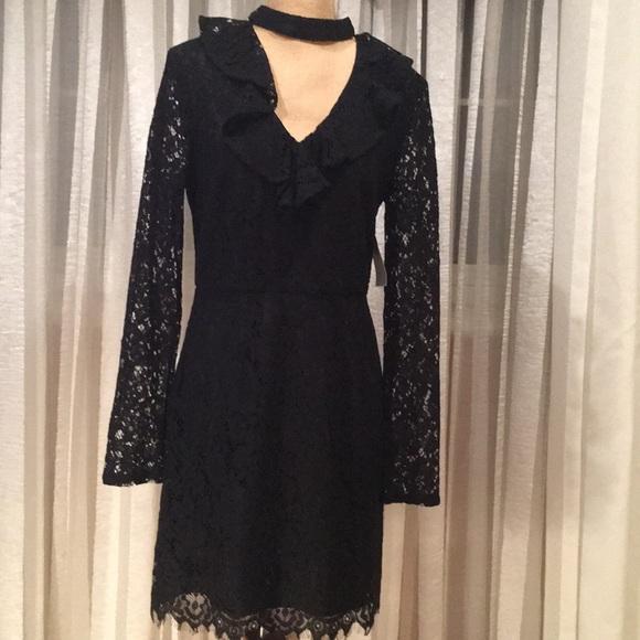 Wayf Dresses & Skirts - Wayf elegant black lace dress with unique details